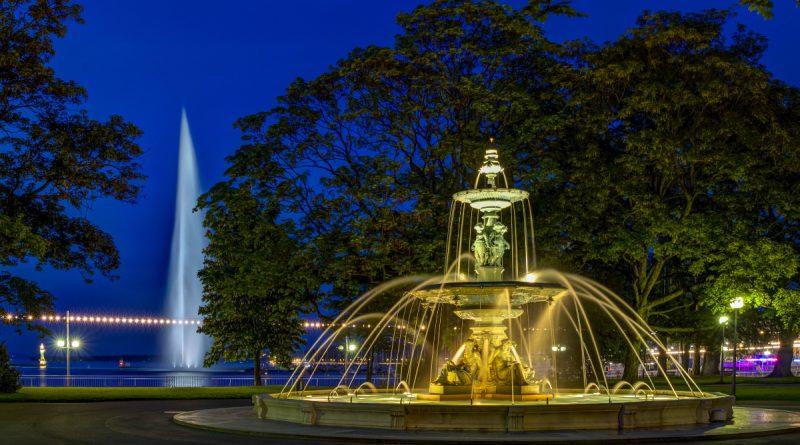 Английский парк в Женеве